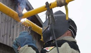 Сварка газовой трубы в доме